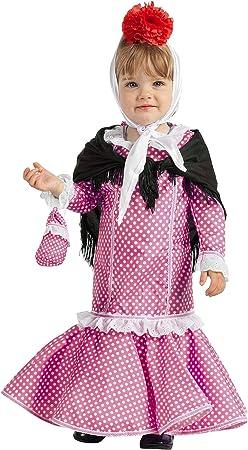 Disfraz de Madrileña Chulapa Rosa (1-2 años): Amazon.es: Juguetes ...