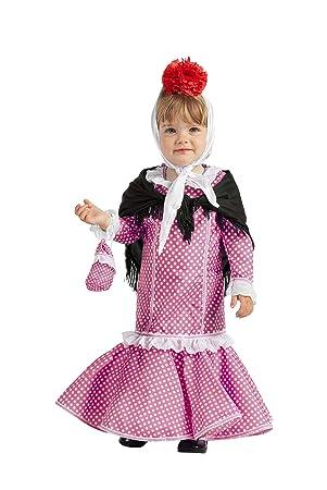 Disfraz de Madrileña Chulapa Rosa (7-12 meses)