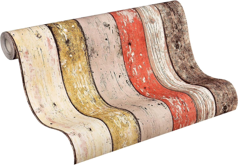 A.S Création Toison papier peint New England Beige Marron Uni 280435