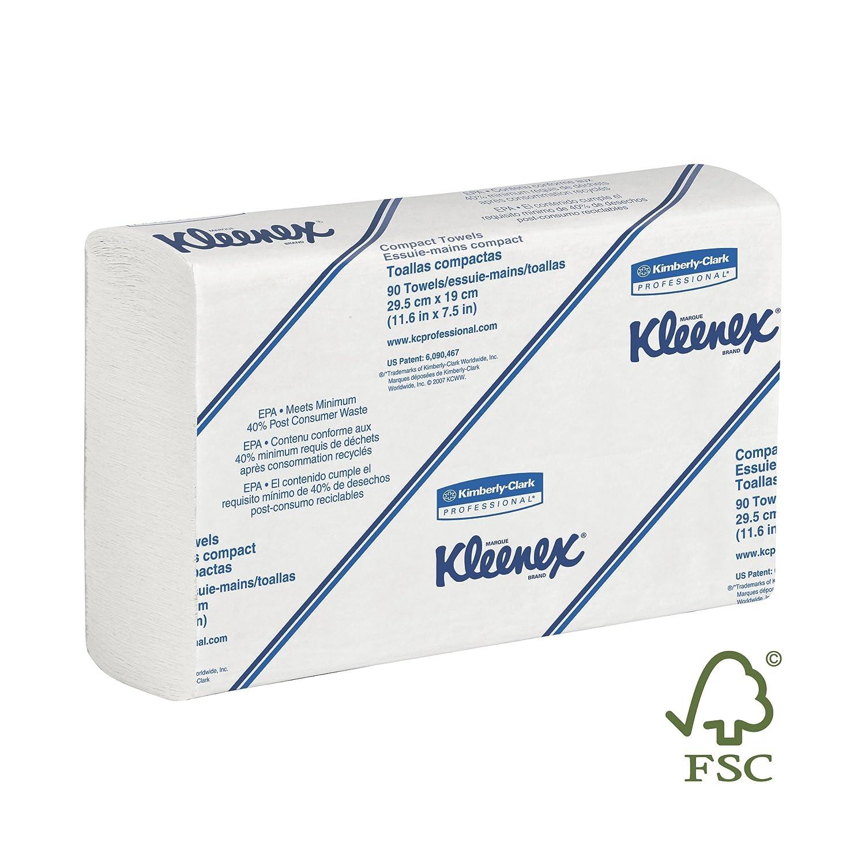 Toalla Kleenex 04442 1-Ply Slimfold papel, blanco (24 Paquetes de 90) - - Amazon.com