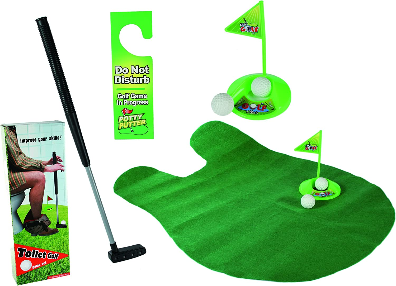 GIOCO da GOLF per TOILETTE set da 6 pezzi mazza da golf regalo scherzo