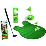 Relaxdays Set de juego de golf para el baño Juego de golf 6 piezas Felpudo