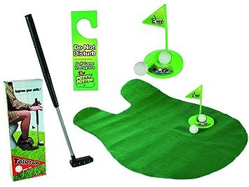Relaxdays Set Juego de Golf para baño, 6 Piezas, Verde