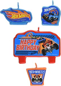 Hot Wheels Wild Racer Birthday Candle Set, Pack of 4
