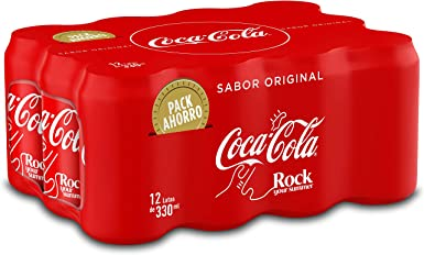 Coca-Cola Sabor Original Lata - 330 ml (Pack de 12): Amazon.es ...