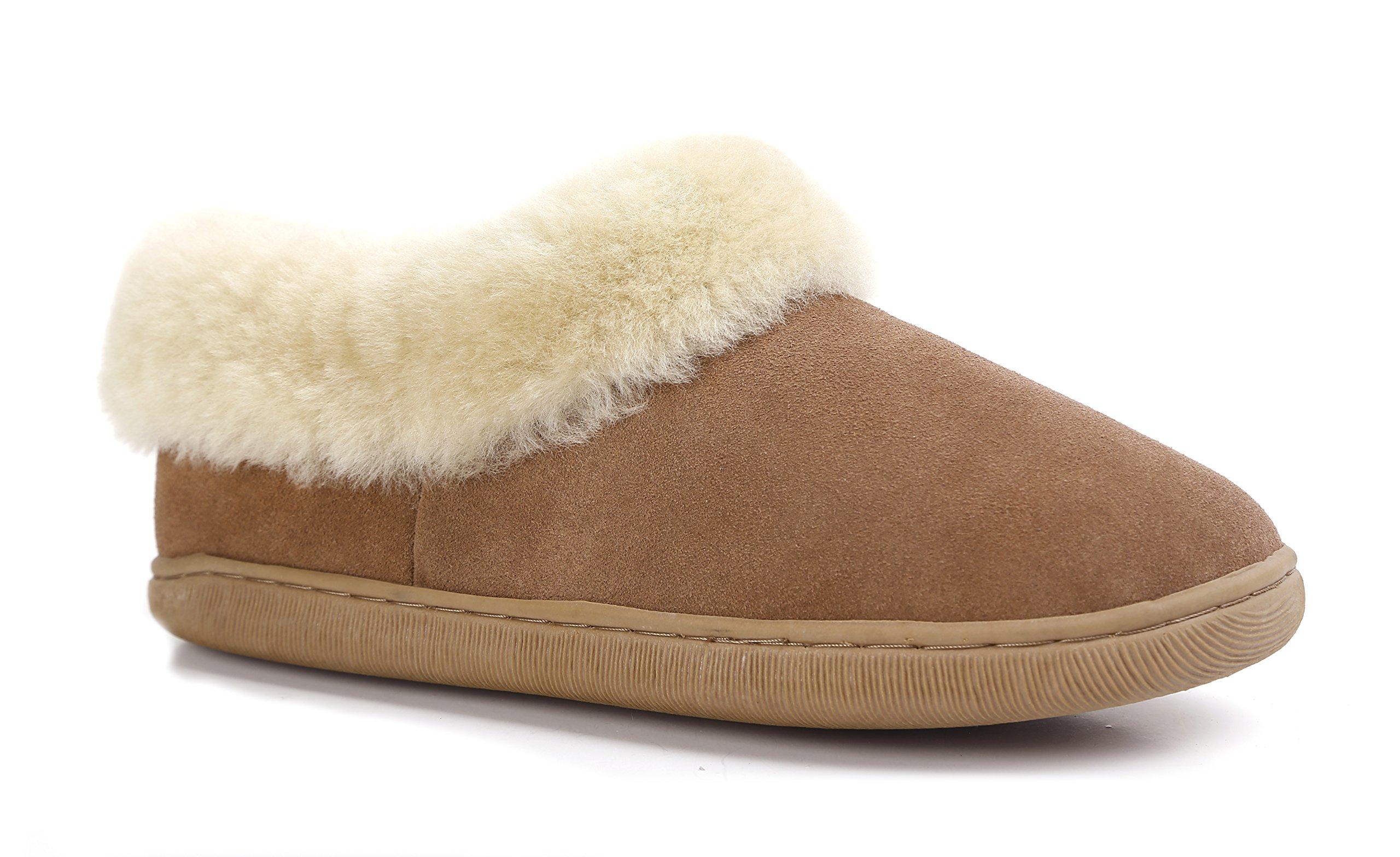 Lamb Men's Australian Sheepskin Outdoor Slippers (11, Chestnut)