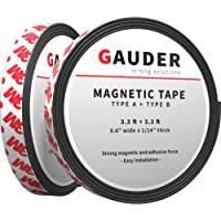 GAUDER A + B Magneetband Sterk Zelfklevend | Voor Vliegengaas en Gordijnen | Magneetstrip