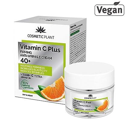PREMIUM Vitamin C Plus 40+ Crema Facial con Vitamina C Tetra, Crema Antiarrugas de