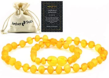 Details about  /Natural Baltic Amber Raw Unpolished Beads Baby Bracelet Honey Color