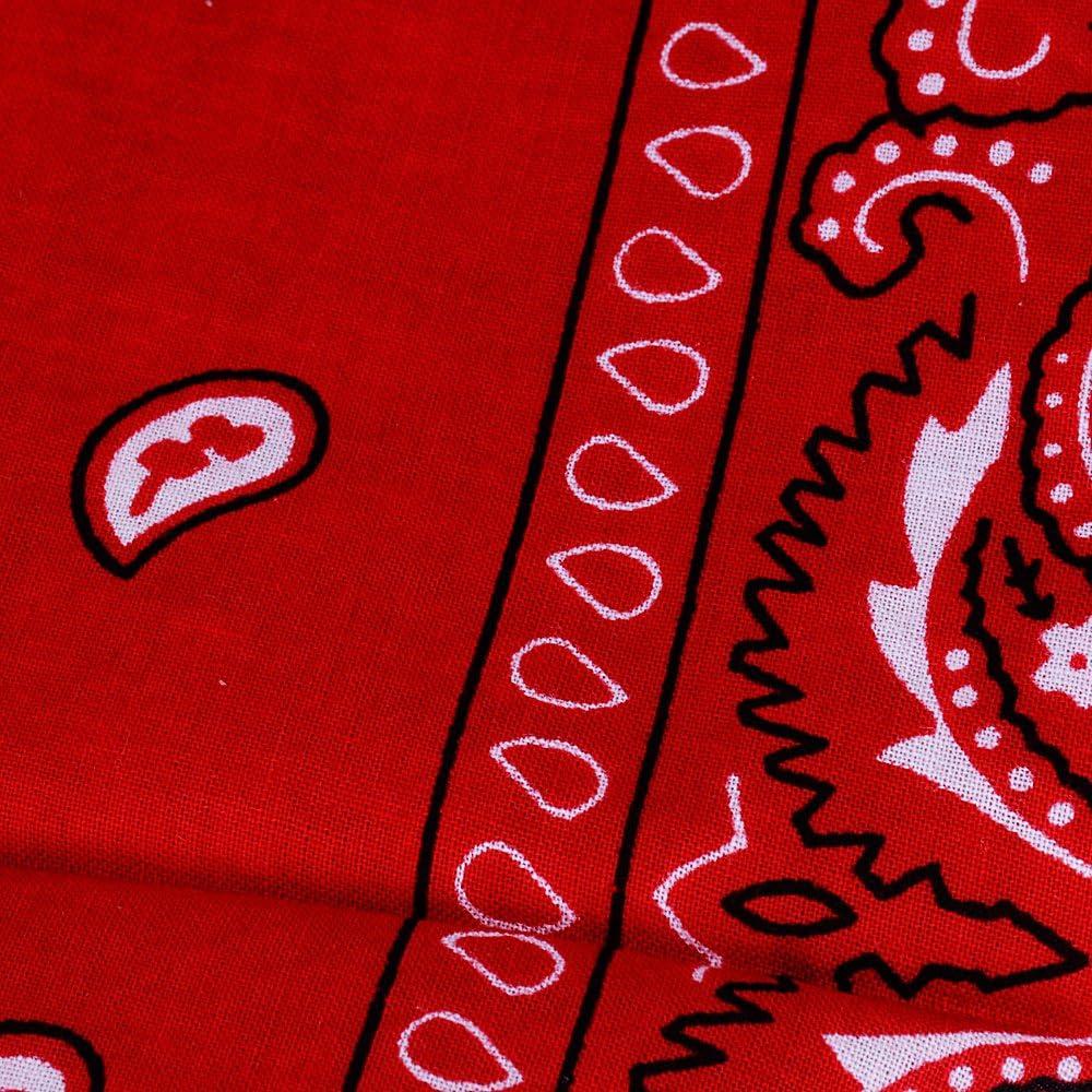 4pz Bandane Multicolori per Capelli al Collo in Testa Modelli di Paisley Bandana Uomo Sciarpa Fazzoletti da Taschino 6pz 100/% Cotone 12pz QUMAO