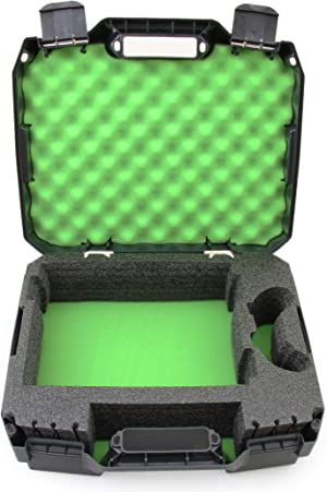CASEMATIX Travel Case Compatible with Xbox One S - Hard Shell Xbox One S Carrying Case with Protective Foam Compartments for Console, Controller, Power Adapter, Games and More Accessories