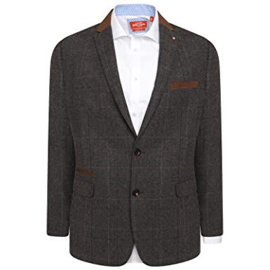 a9ba54203f51 HARRY BROWN Blazer Wool Blend Check Tailored Fit at Amazon Men s ...
