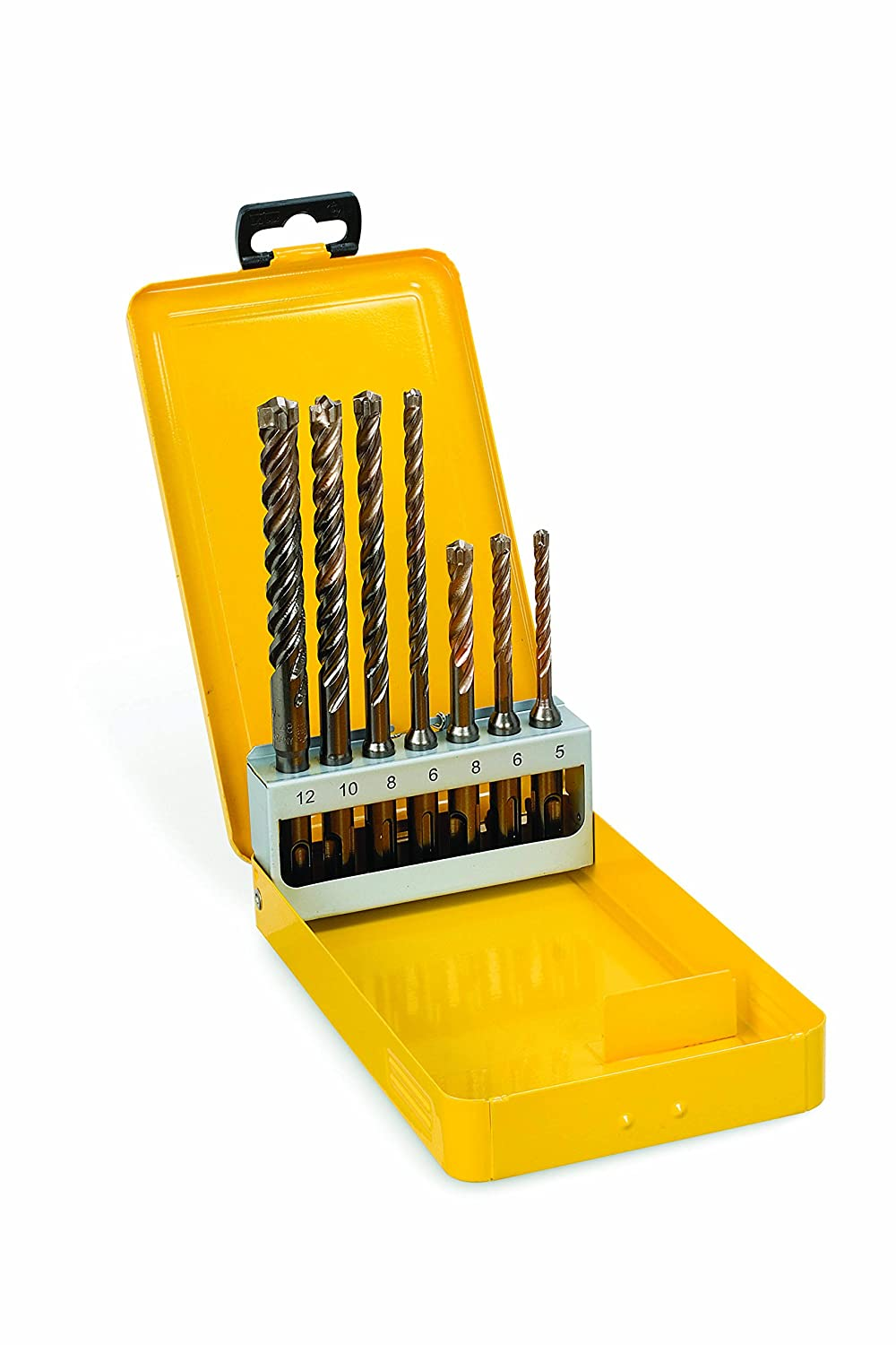 Set DeWalt XLR SDS-plus Ha mmerbohrer 7-tlg., Vollhartmetallkopf, /ø 5, 2x 6, 2x 8, 10, 12 mm, in Metallkassette DT8976