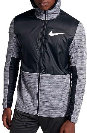 7942e8479357 Nike Men s Therma Winterized Full Zip Basketball Hoodie (Black Black White