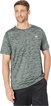 New Balance Printed Accelerate SS tee Camiseta, Hombre: Amazon ...