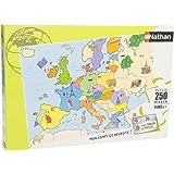 Nathan - 86934 - Puzzle Enfant Classique - Carte d'Europe - 250 Pièces