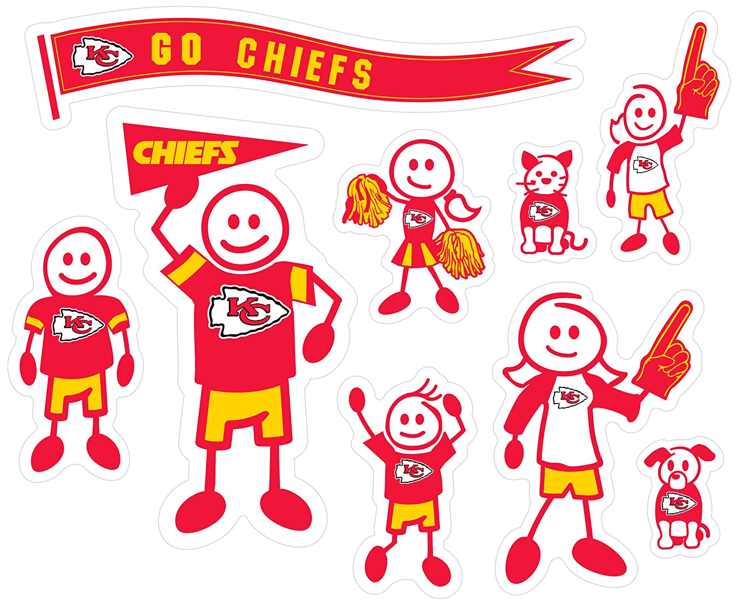 Siskiyou NFL Large Family Decal Set Siskiyou Gifts Co Inc 2FFLD040