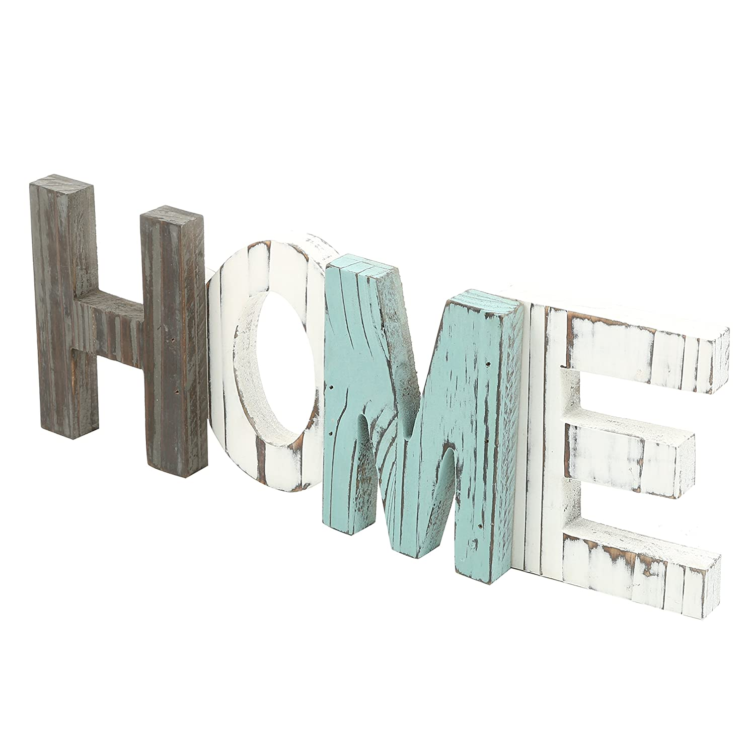 Amazon.com: MyGift Rustic Wood HOME Decorative Sign, Standing Cutout ...