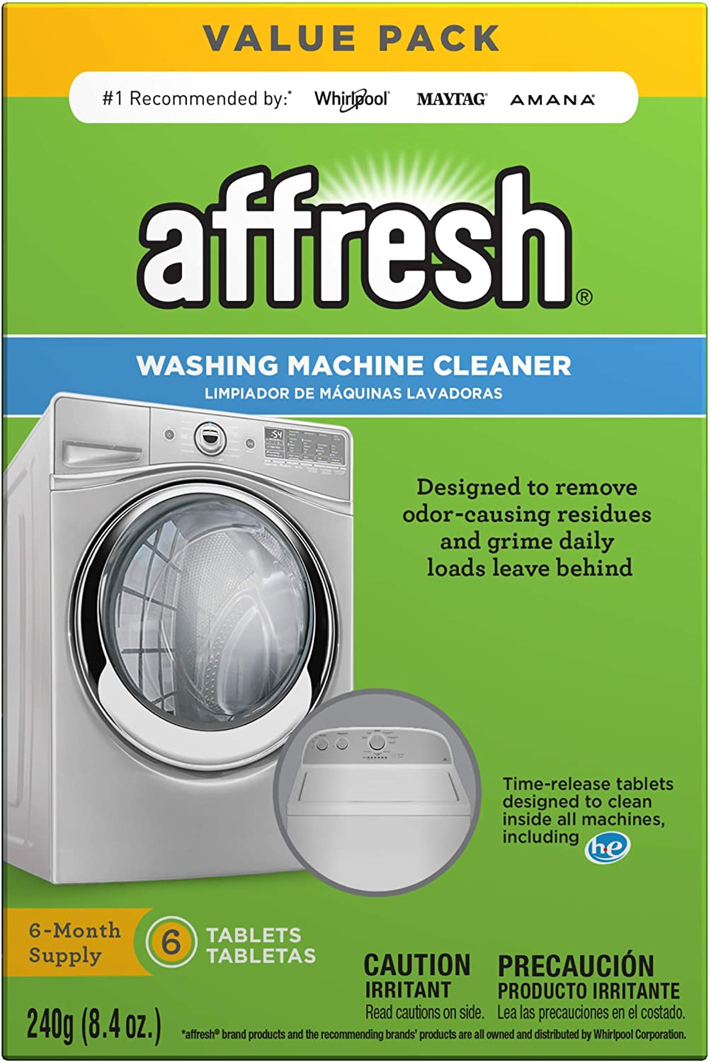 2 Pack WASHING MACHINE CLEANER POWDER Removes Clean Grime Dirt Sterilise Protect