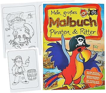 Großes Malbuch A4 Piraten Ritter Piratenschiff Pirat Ritterburgen Burg Schatztruhe Malvorlagen Für Jungen Groß Malbücher