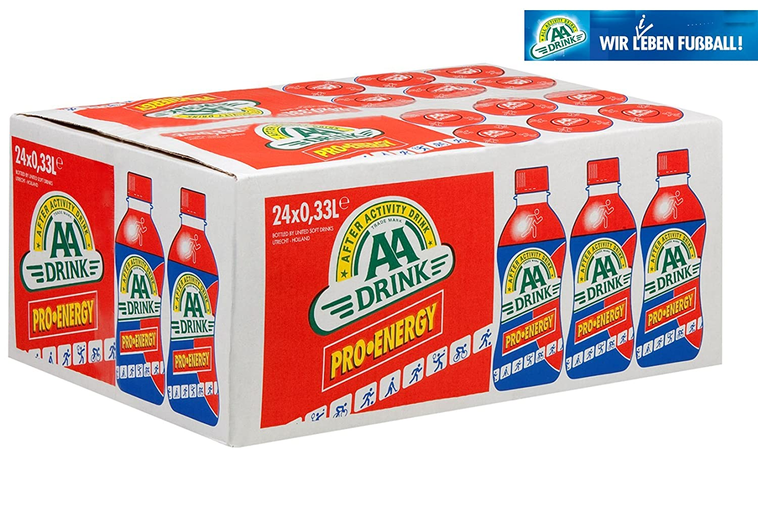 AA Drink Pro Energy 24x33cl hypotonisches Sportgetränk (inkl. 6 ...