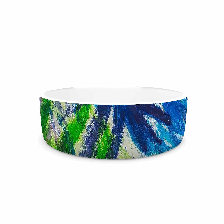 KESS InHouse NL Designs Splatter Stars  Abstract Painting Pet Bowl, 4.75