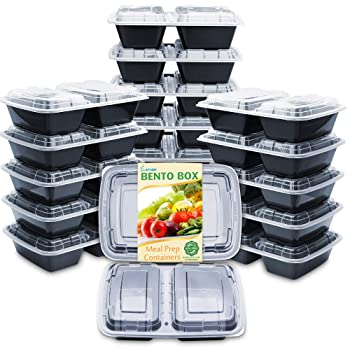 Enther Meal Prep Stackable Freezer Containers