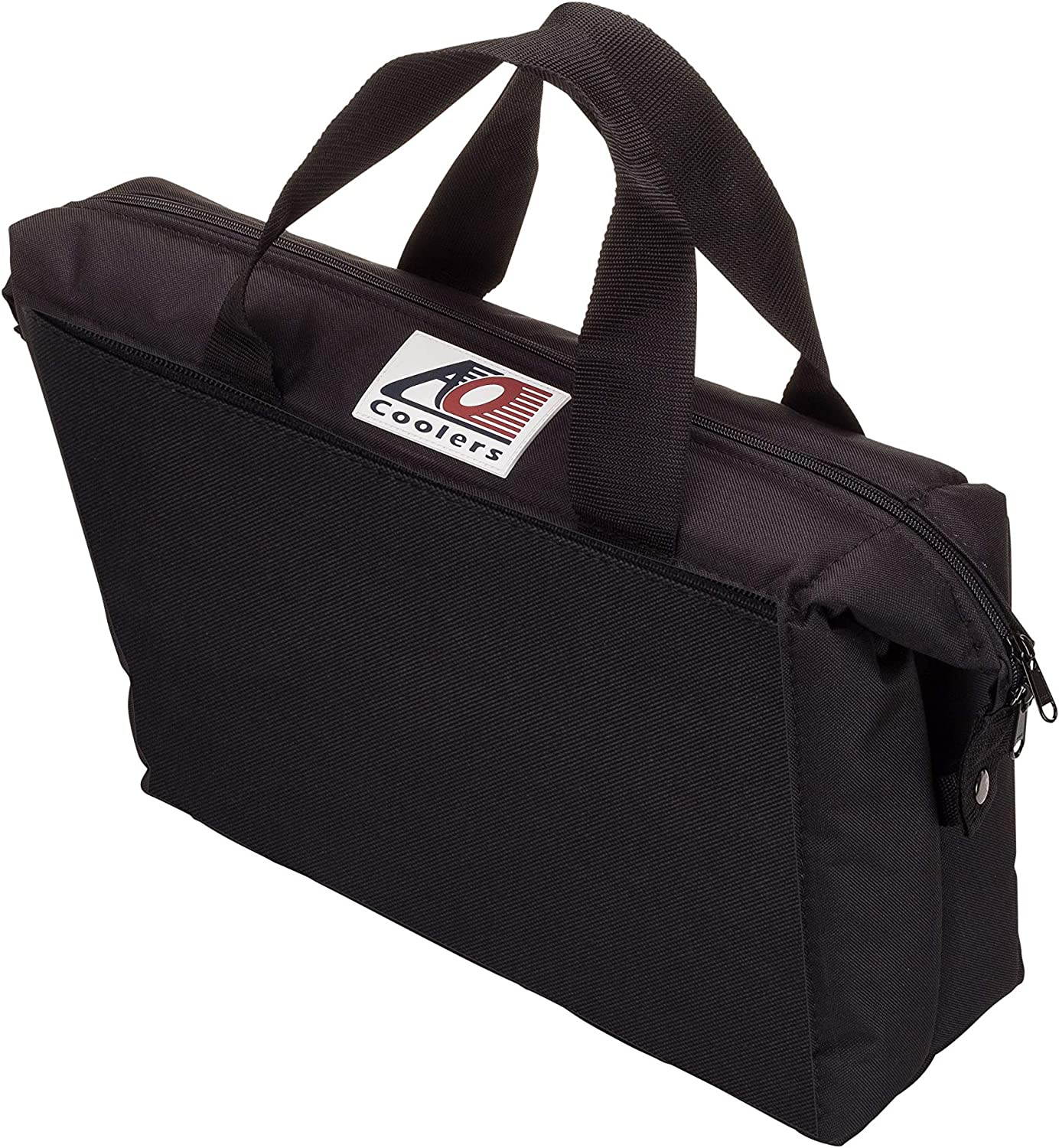 AO Coolers - AO18MOTO Motorcycle Saddle Bags Soft Cooler (15-Can Capacity), Black