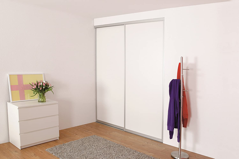 Diseño de aluminio para puerta corredera para 2 puertas, Twin Floor – Ideal para durchgangs puertas y biombos – Ancho Pro Puerta alas hasta 1300 mm: Amazon.es: Bricolaje y herramientas