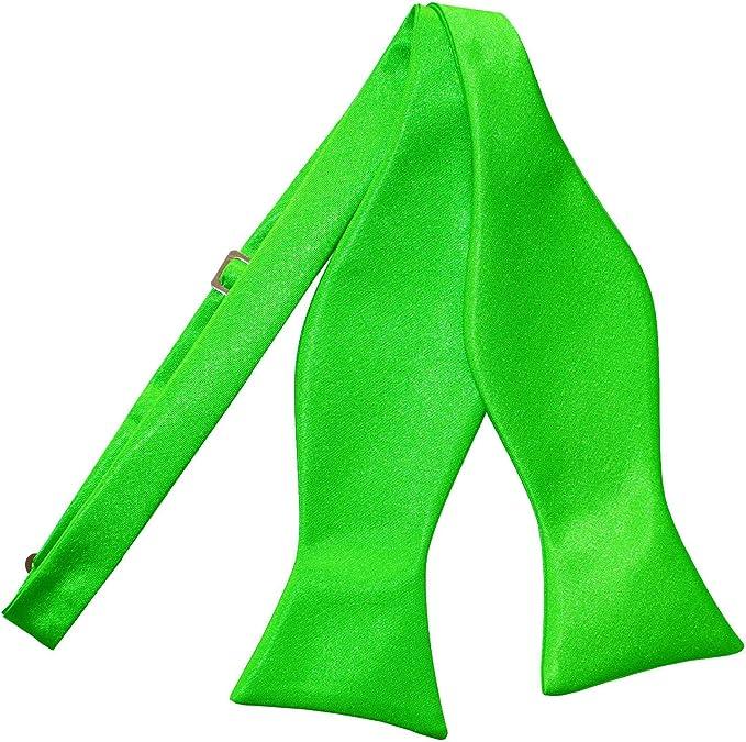 DQT Satin Plain Solid Apple Green Formal Wedding Mens Classic Tie