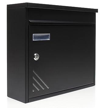 Home Icon Buzón correos exterior/Buzon de pared con cerradura/Buzón postal impermeable con etiqueta de dirección y dos llaves