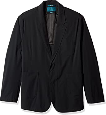 Perry Ellis Mens Big and Tall Solid Stretch Sport Jacket
