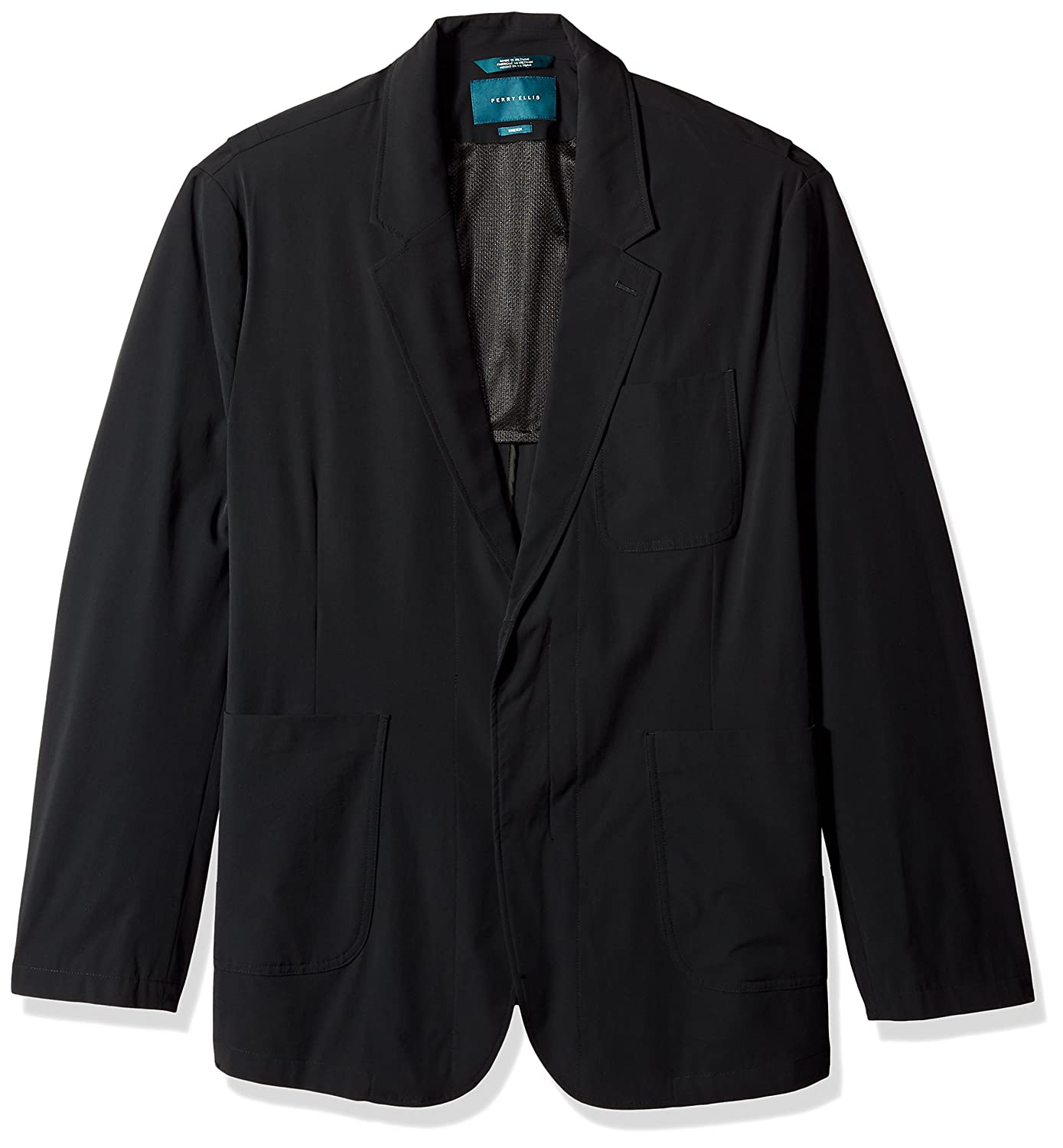 Perry Ellis Men's Tall Big Fit Solid Tech Stretch Jacket