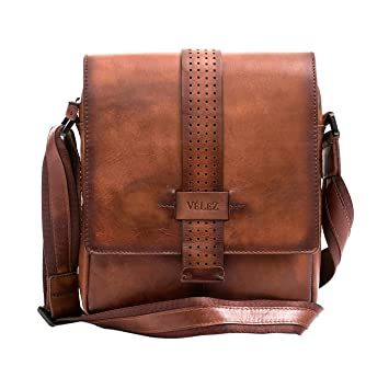 Amazon.com | VÉLEZ 20238 Men Genuine Leather Crossbody Bag | Bandolera De Cuero Honey | Backpacks