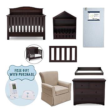 Serta Barrett 7 Piece Nursery Furniture Set With FREE Digital Monitor  (ships Separately)