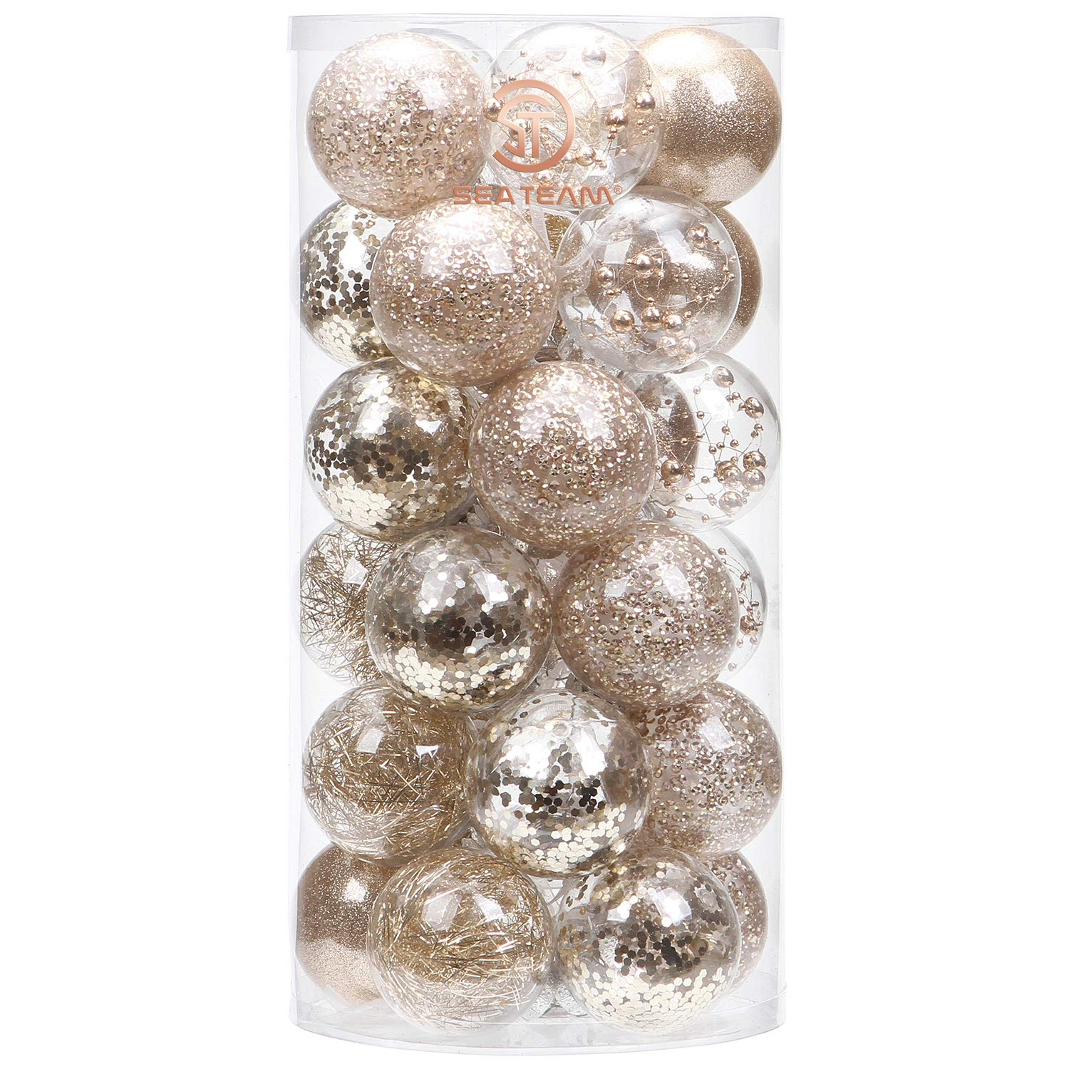 shatterproof clear plastic christmas ball ornaments