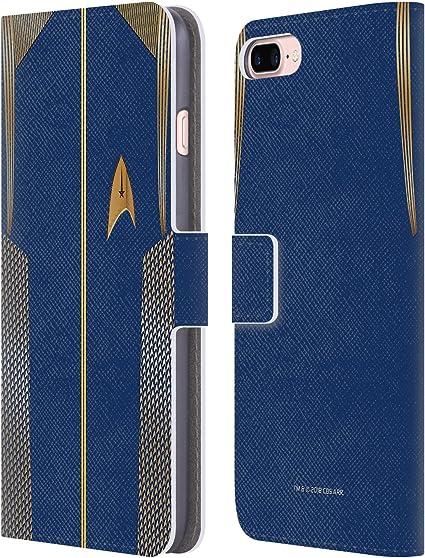 Head Case Designs sous Licence Officielle Star Trek Discovery Capitaine Uniformes Coque en Cuir à Portefeuille Compatible avec Apple iPhone 7 ...