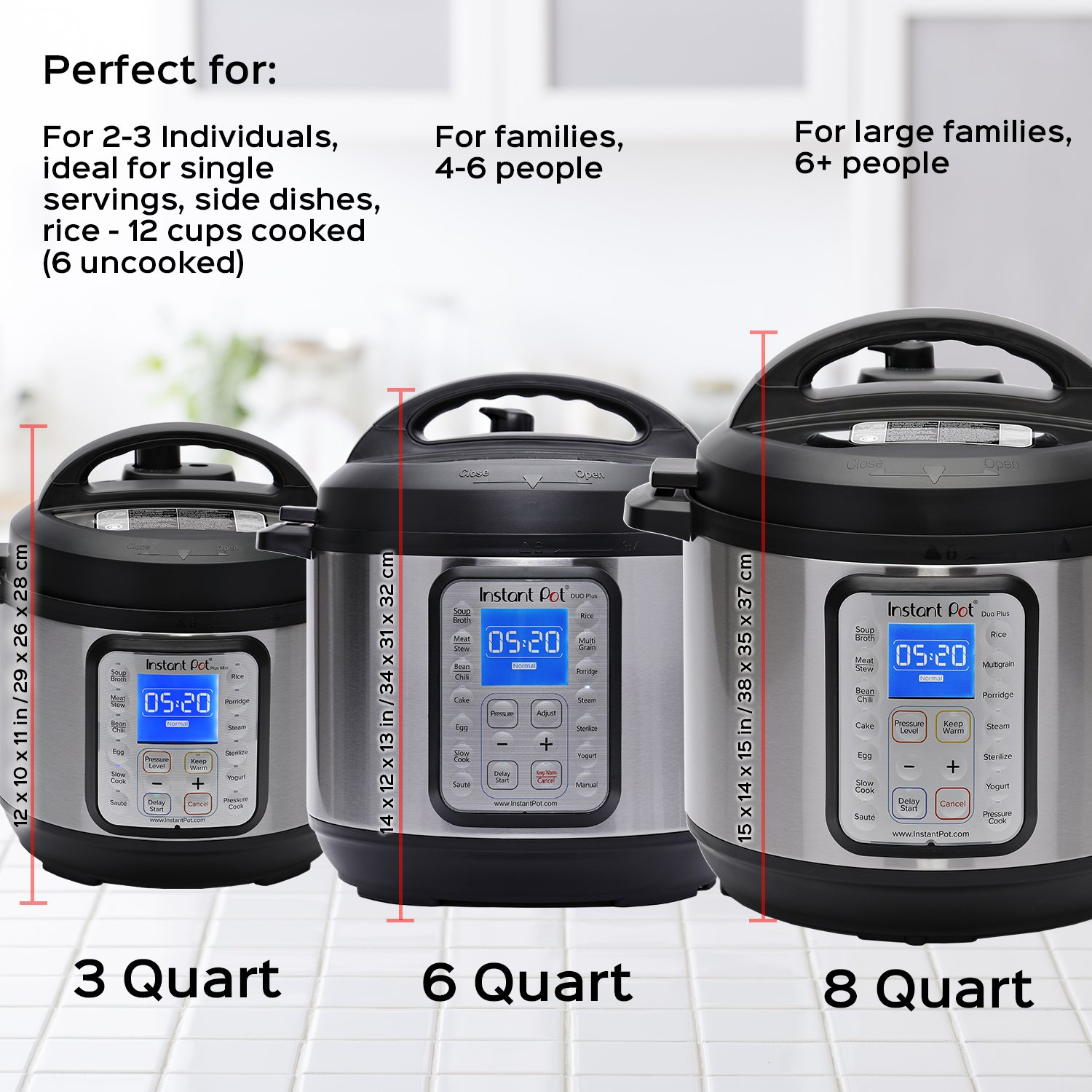 Instant Pot DUO Plus 8 Qt 9-in-1 Multi- Use Programmable Pressure Cooker, Slow Cooker, Rice Cooker, Yogurt Maker, Egg Cooker, Sauté, Steamer, Warmer, and Sterilizer by Instant Pot (Image #6)