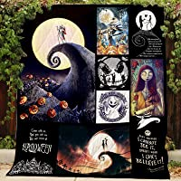 Nightmare Before Christmas Quilt P210 PD All-Season Quilts Comforters with Reversible Cotton King/Queen/Twin Size - Best Decorative Quilts-Unique Quilted for Gifts