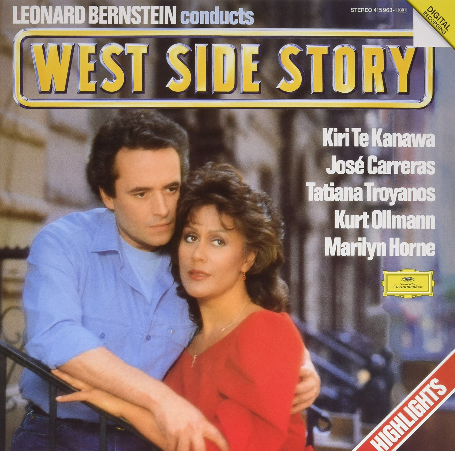 Te Kanawa Carreras Bernstein Leonard Bernstein Conducts West Side Story Lp Music