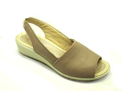 Damen Sandalen, Beige - Taupe - Größe: 41 EU Enval soft