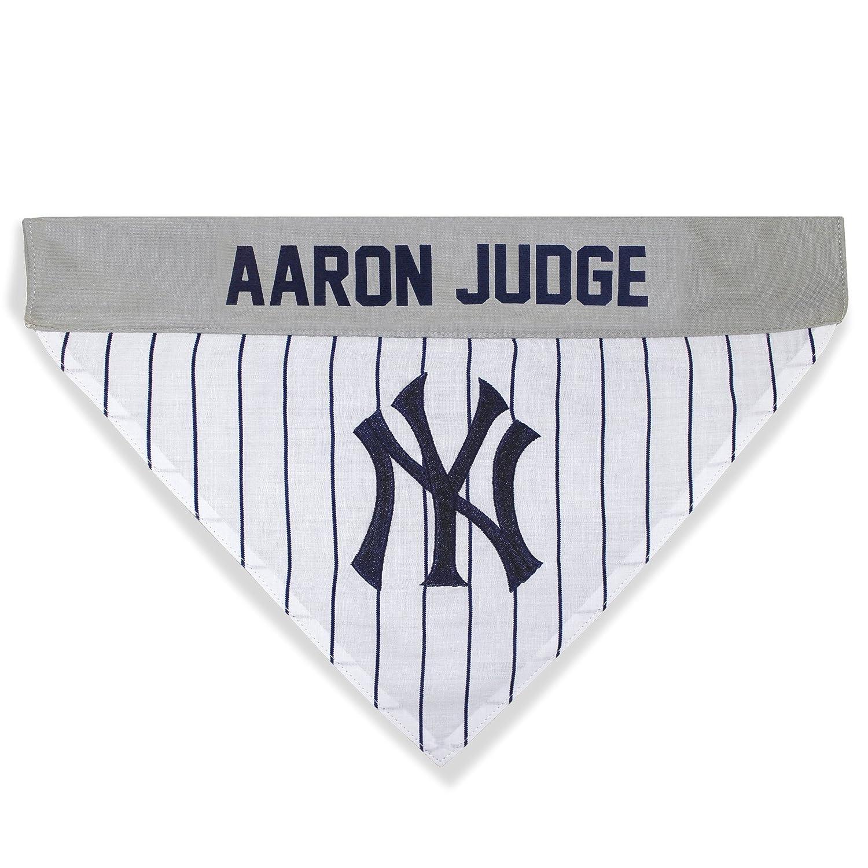 fa65970c7d5 Amazon.com   MLBPA Reversible Dog Bandana - Aaron Judge  99 Pet Bandana -  MLB New York Yankees Home   Away Bandanna