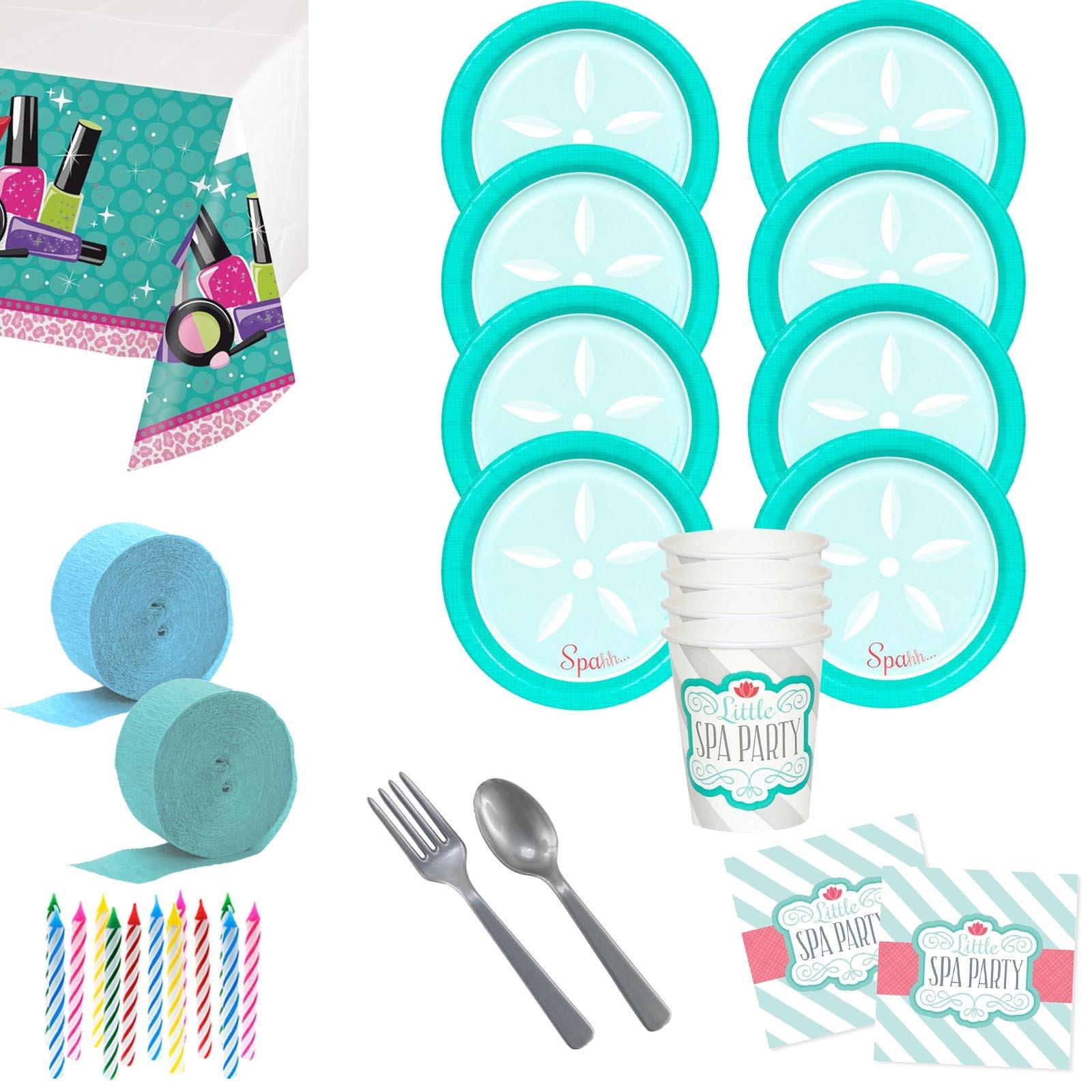 Costume SuperCenter Little Spa Deluxe Tableware Kit (Serves 8)