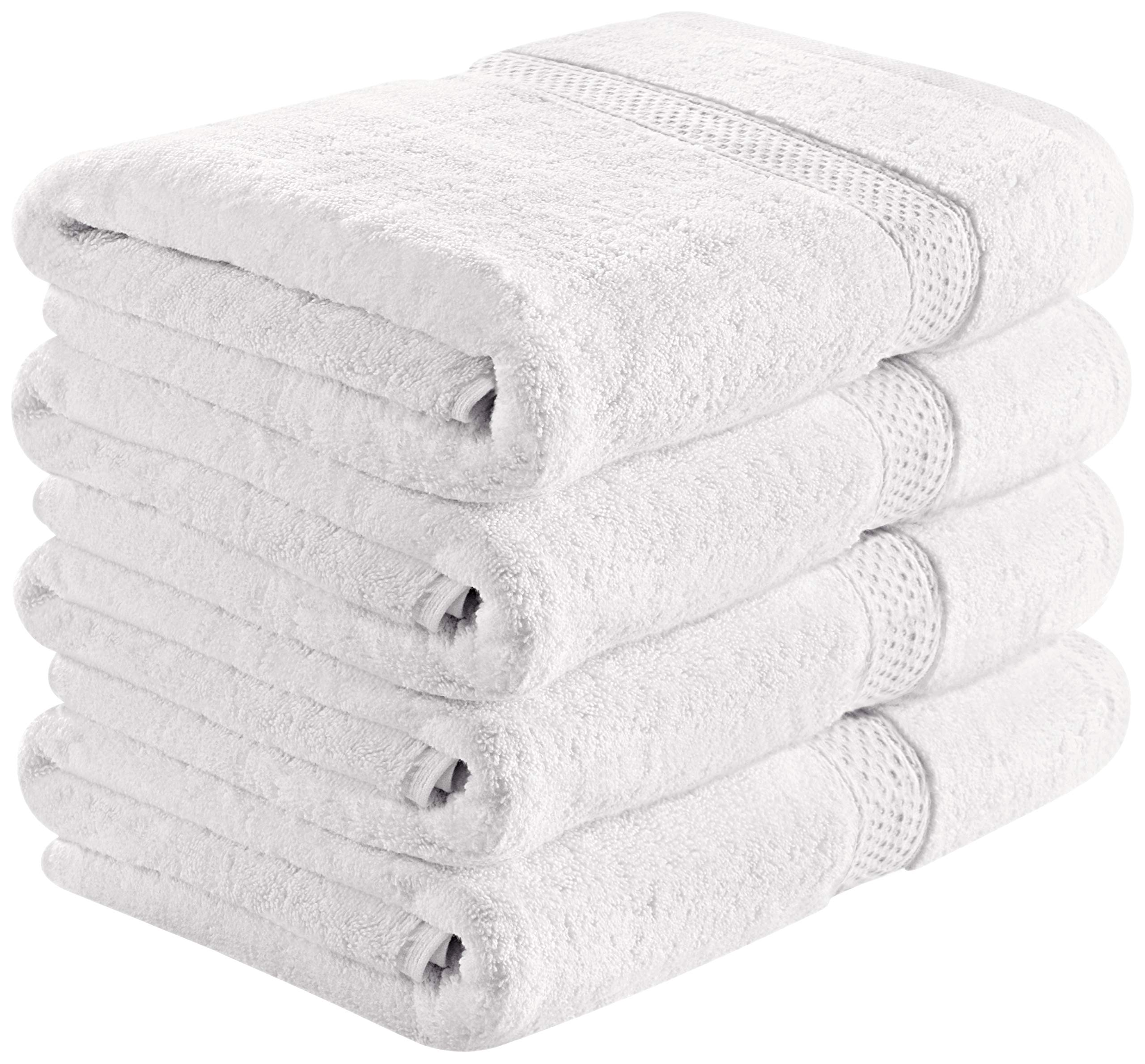 Utopia Towels 700 GSM Premium White Bath Towels Set - Pack of 4 - (27 x 54 Inches) - 100% Ring-Spun Cotton Towels for Home, Hotel and Spa – White Towels Set with Maximum Softness and High Absorbency