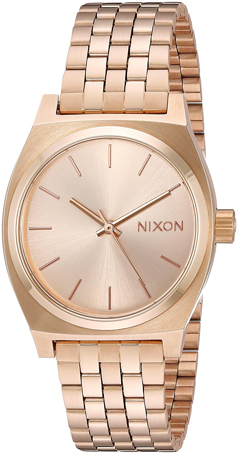 a6b5ab3210ec Nixon Medium Time Teller A1130. 100m Water Resistant Women s Watch (31 mm  Stainless Steel Watch Face)