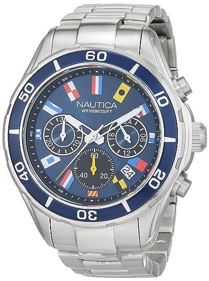 Nautica Reloj Analógico para Hombre de Cuarzo con Correa en Silicona 0656086079388: Amazon.es: Relojes