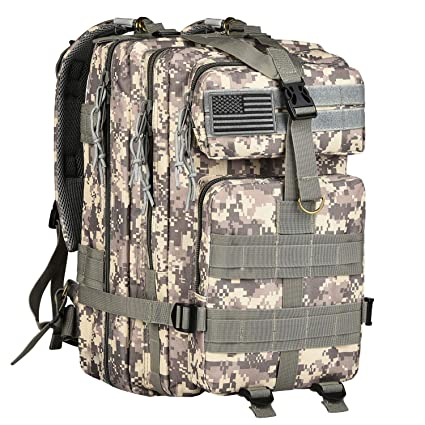 d841243afe CVLIFE 30L Outdoor Tactical Backpack Military Rucksacks Molle Packs for  Camping with Velcro Patch  Amazon.in  Sports