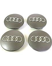 4 Tapacubos para Audi Diámetro DE 68 mm Repuesto para Coche Círculos Remaches Aleación A3 A4