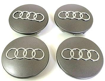 4 Tapacubos para Audi Diámetro DE 68 mm Repuesto para Coche Círculos Remaches Aleación A3 A4 A5 A6: Amazon.es: Coche y moto