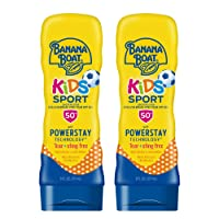 Banana Boat Kids Sport Tear Free, Sting Free, Reef Friendly Sunscreen Lotion, Broad Spectrum SPF 50, 6 Ounces - Twin Pack